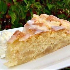 Quark- Apfel- Kuchen, einfach in der Zubereitung - Aus meinem Kuchen und Tortenblog #applepie
