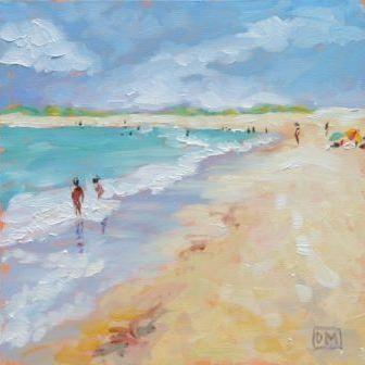 Debbie Miller Painting Sweet Summer Beach Watercolor Beach Painting Beach Art