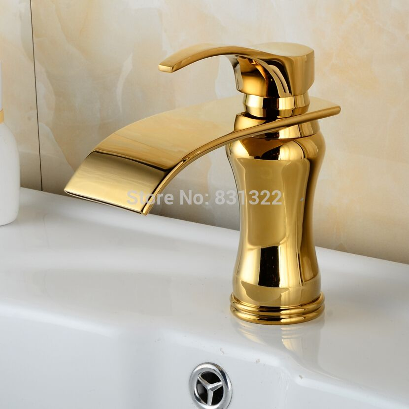 BECOLA Free Shipping Gold Color Bathroom Sink Faucet Mixer Luxury - Gold colored bathroom fixtures