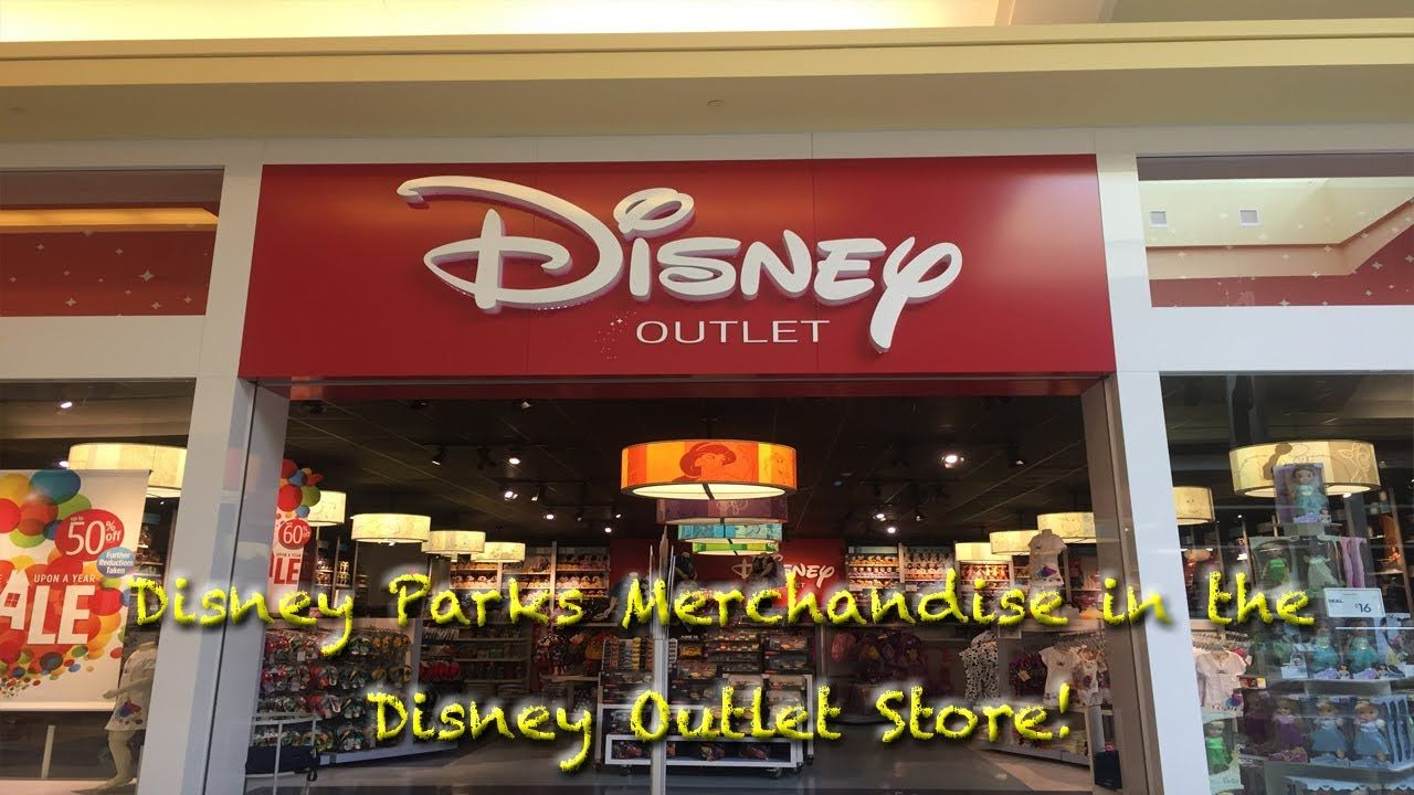 Disney parks merchandise in the disney outlet store