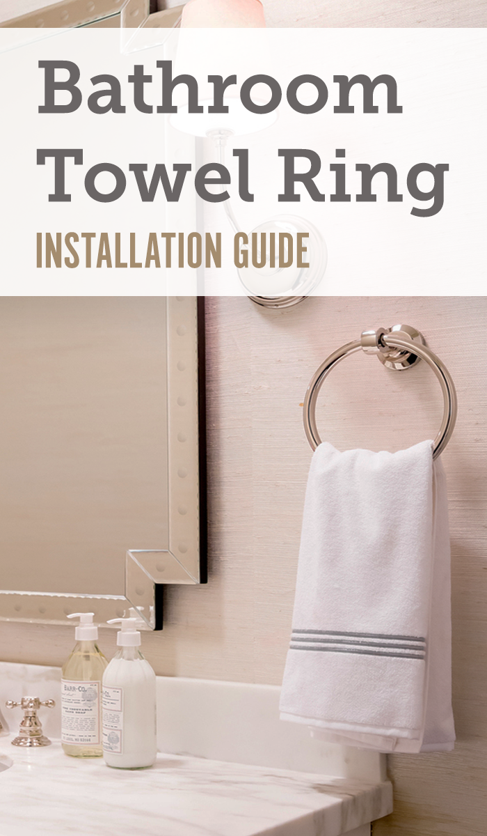 Using Just A Single Mounting Bracket, Installing A Towel Ring In Your  Bathroom Is A Simple Addition Of Style And Functionality. Click Through To  Read How To ...
