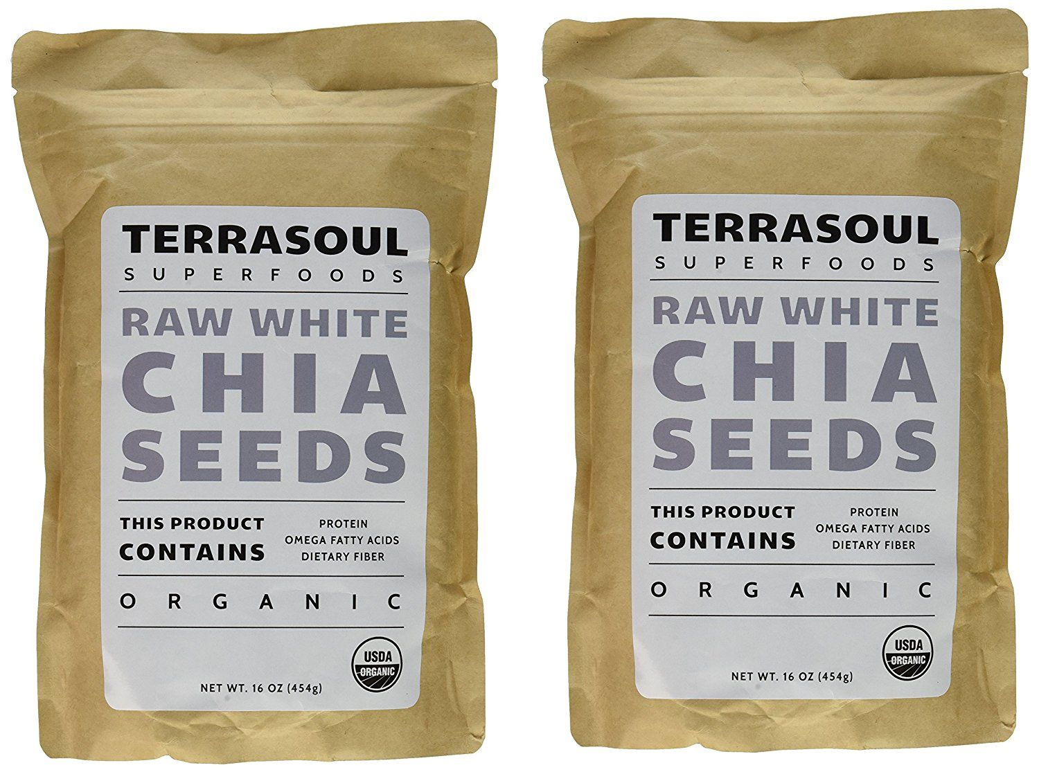 Terrasoul Superfoods White Chia Seeds 2 Pounds