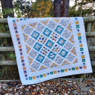 Baby Jungle Quilt, fabric panel. how to make an easy quilt with ... : jungle quilt pattern - Adamdwight.com