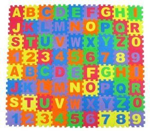 Alphabet Amp Number Foam Puzzle Play Mat 36 Pieces A Z Amp 0 9