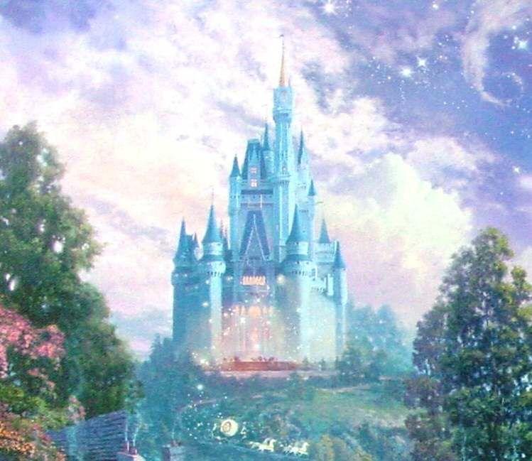 Thomas Kinkade Disney   Thomas Kinkade Disney Paintings Cinderella Wishes A P   eBay