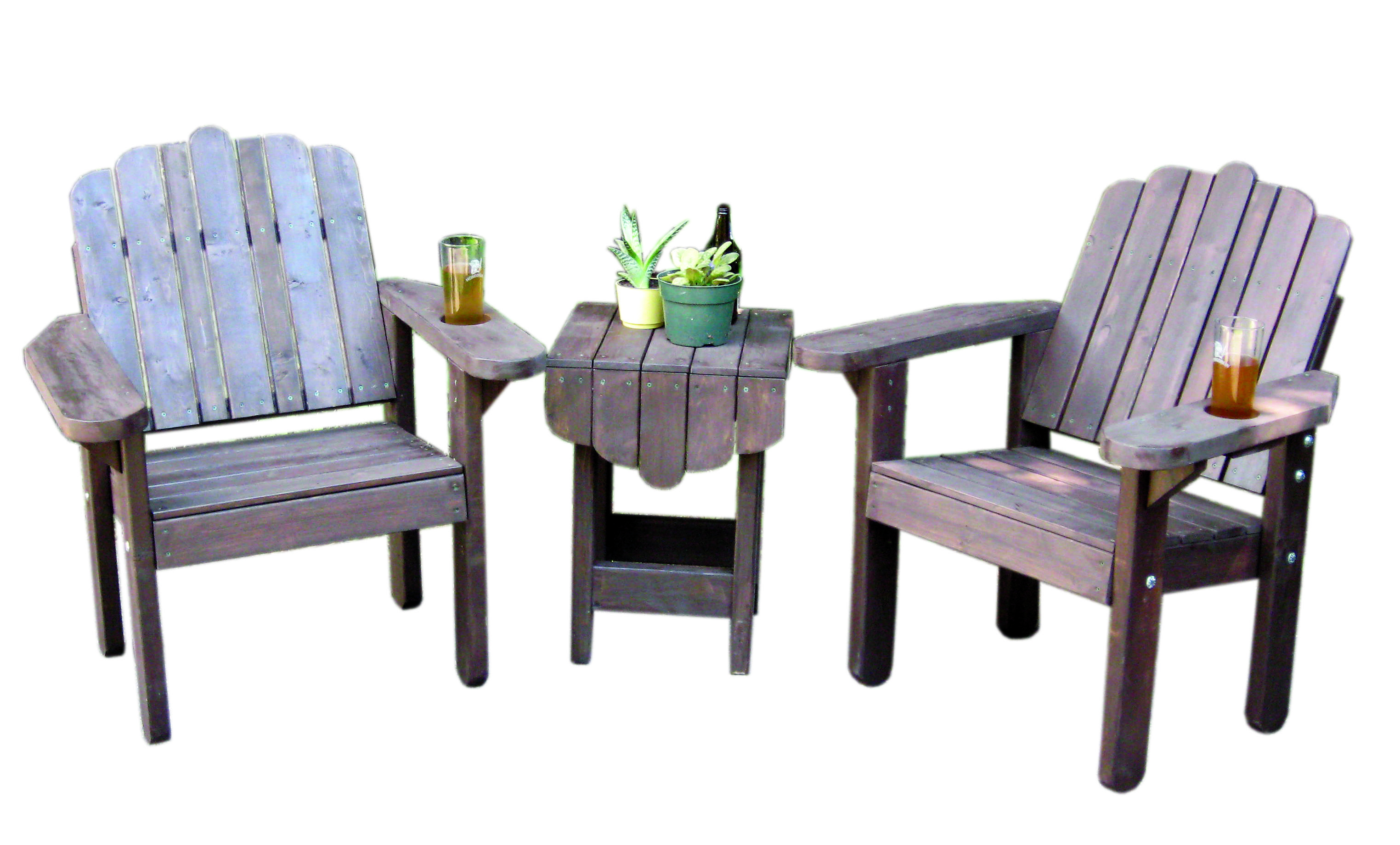 Outdoor Reading Chair Muskoka Style Chair Set We Designed And Built These Chairs
