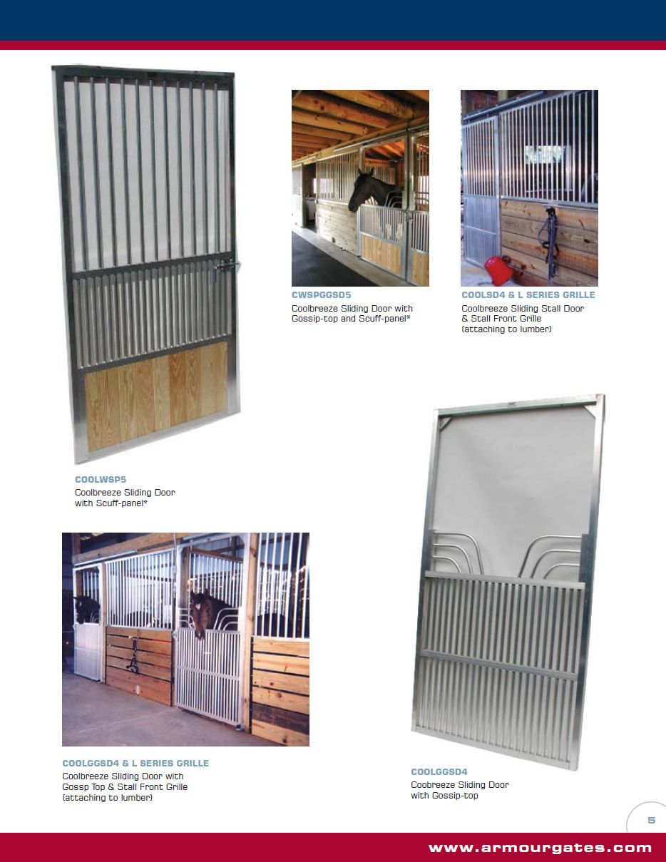 Armour Companies Aluminum Horse Stalls Coolbreeze Sliding Stall
