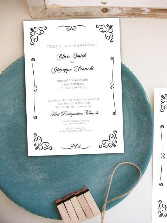 Questo Elegante Set Di Partecipazioni Di Nozze E Perfetto Per Un Matrimonio Elegante E Un Set Di Nozze Dal Design Ra Partecipazioni Nozze Nozze Partecipazione