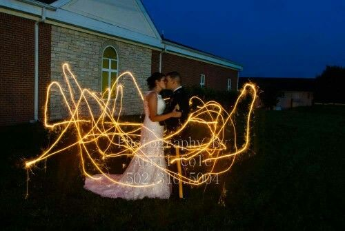 Sparkler Photography - painting with light