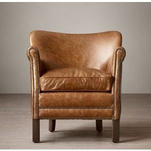 Professor 39 S Leather Chair With Nailheads Restoration Hardware Gue