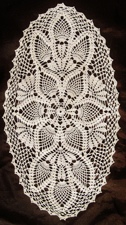 Oval Doily | Crochet | Pinterest | Teppich häkeln, Häckelmuster und ...
