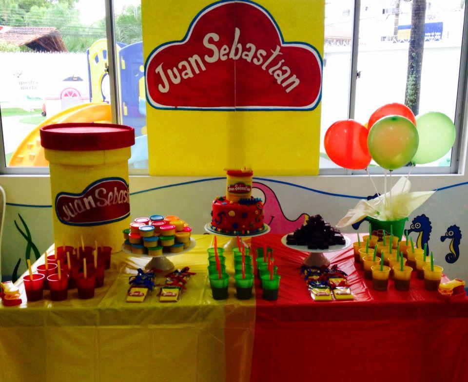 Play Doh theme table