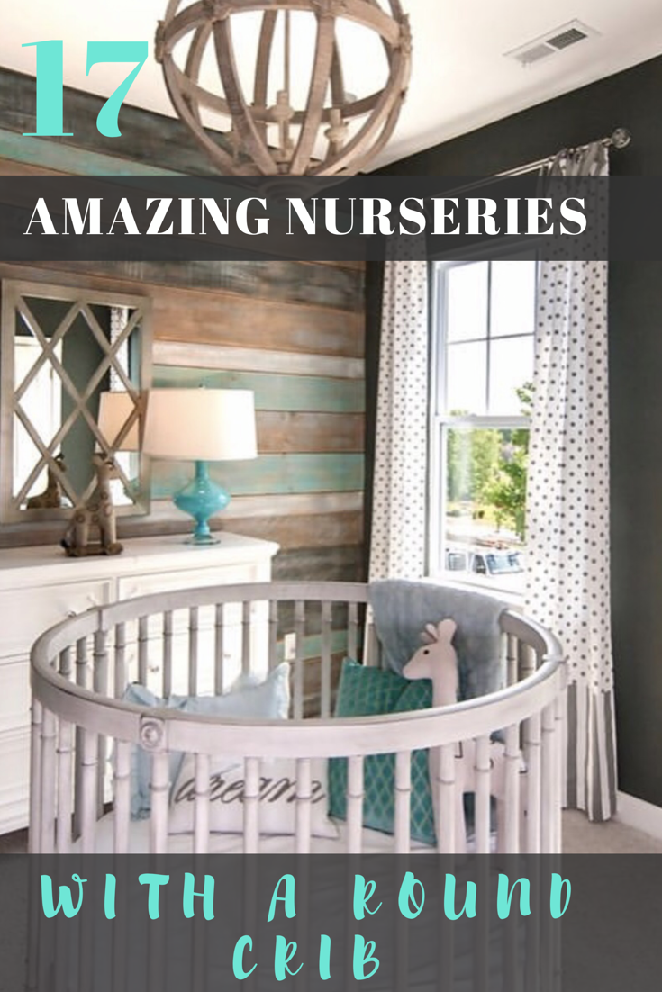 17 Round Crib Nursery Inspirations With Images Round Crib