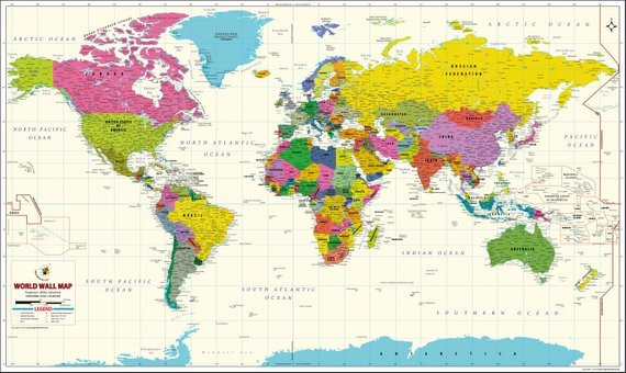 Study World Map.Vivid World Map Products Pinterest Map World And Wall Maps