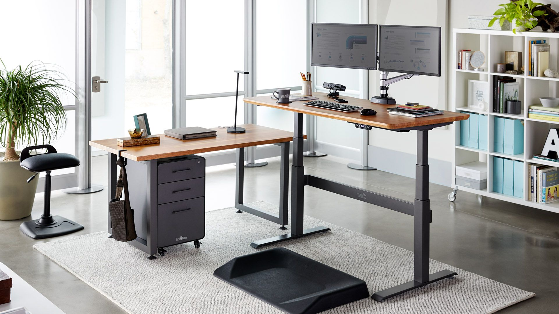 Electric Sit Stand Full Desk Solutions Varidesk Height