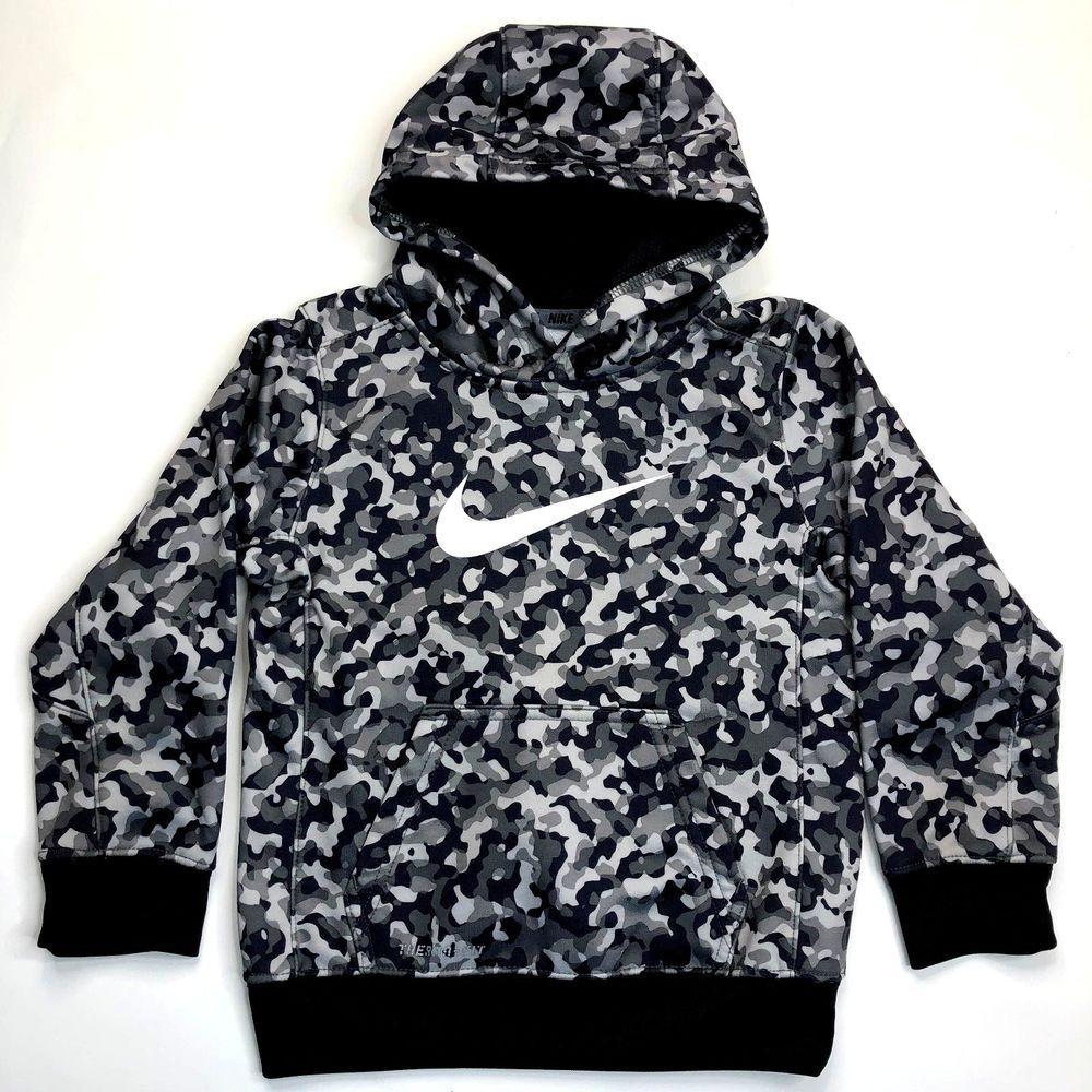 nike therma fit hoodie black and grey