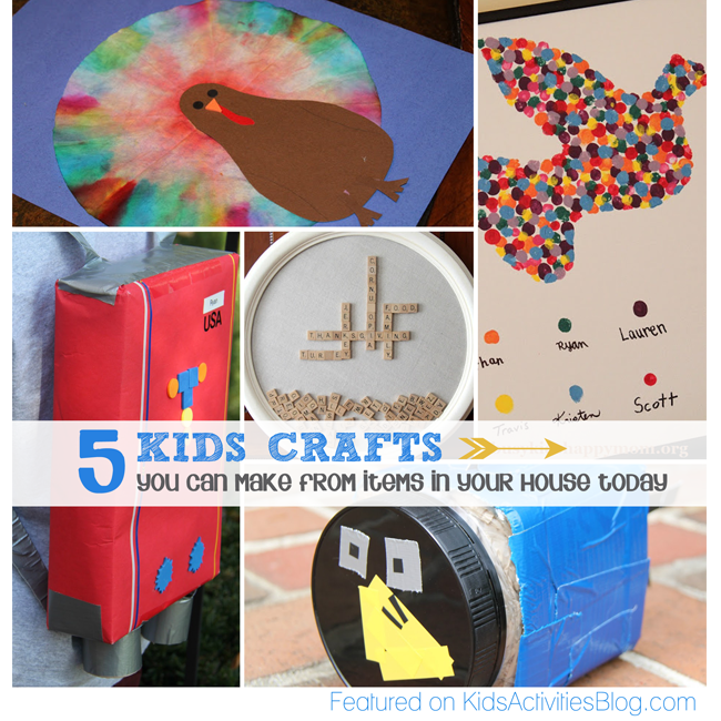 Kids Crafts You Can Make From Things Around Your House 20 Must