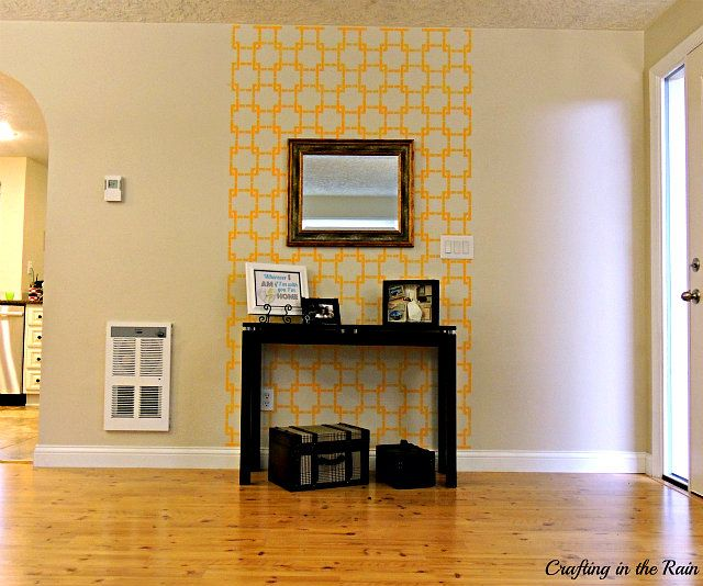Partial Wall Stencil and Giveaway | Wall stenciling, Stenciled ...