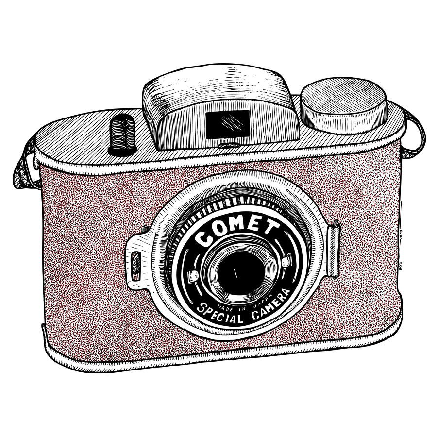 Comet camera cameras camera drawing pencil drawings e for Camere dwg