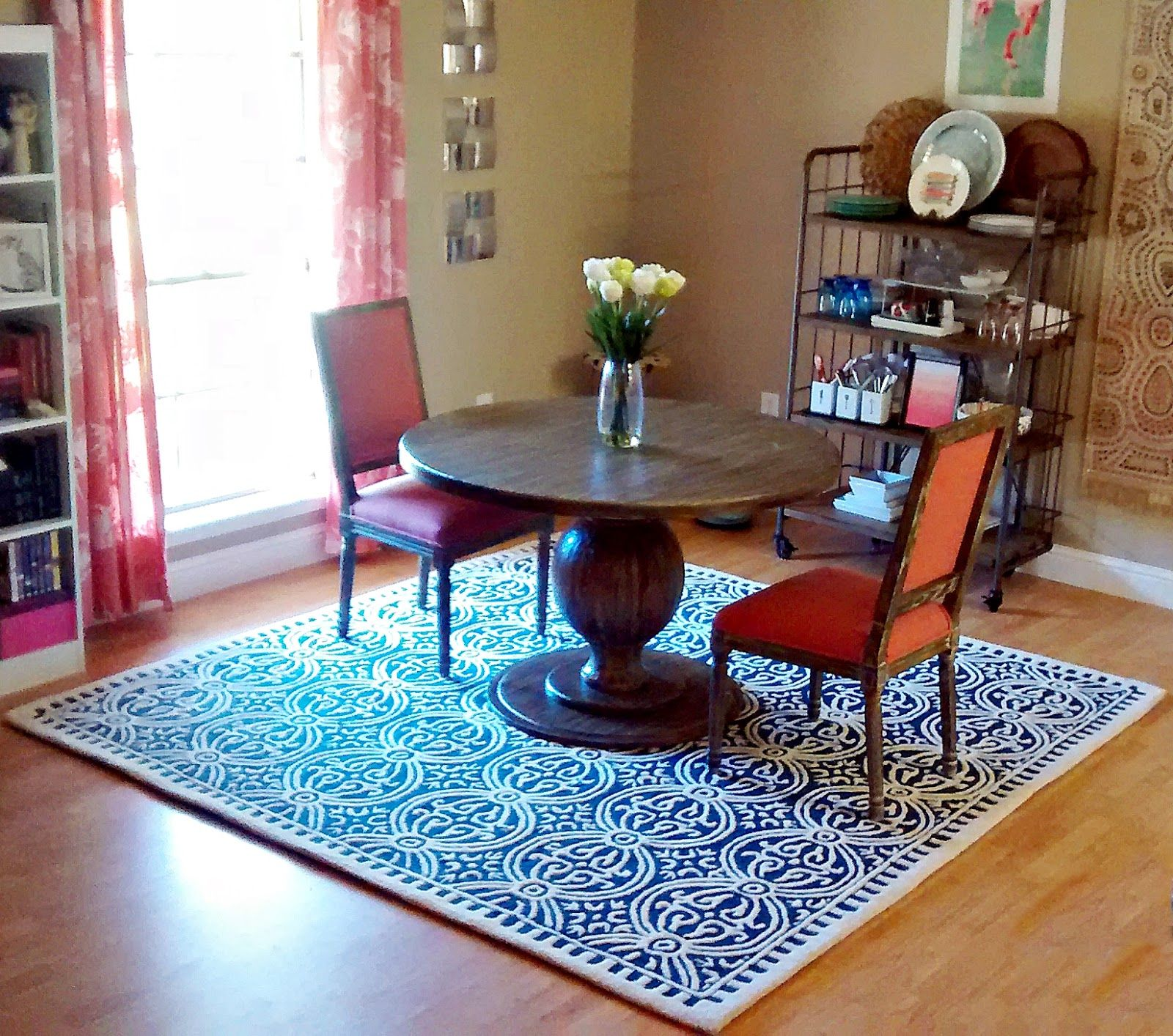 Dining Room Decor Update Round Dining Table Coral Navy World