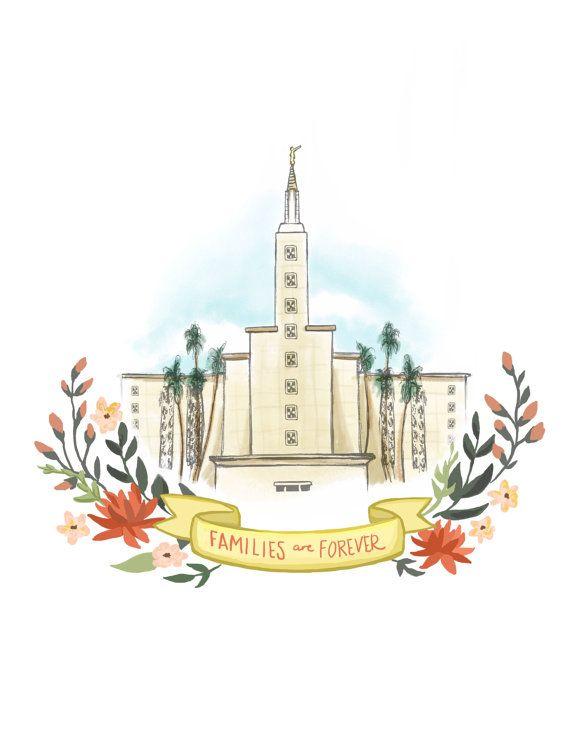 Los Angeles California LDS Temple, Latter Day Saint, Mormon, LA ...