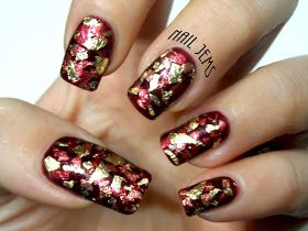 Nail Jems: Jelly Layering with Gold Leaf