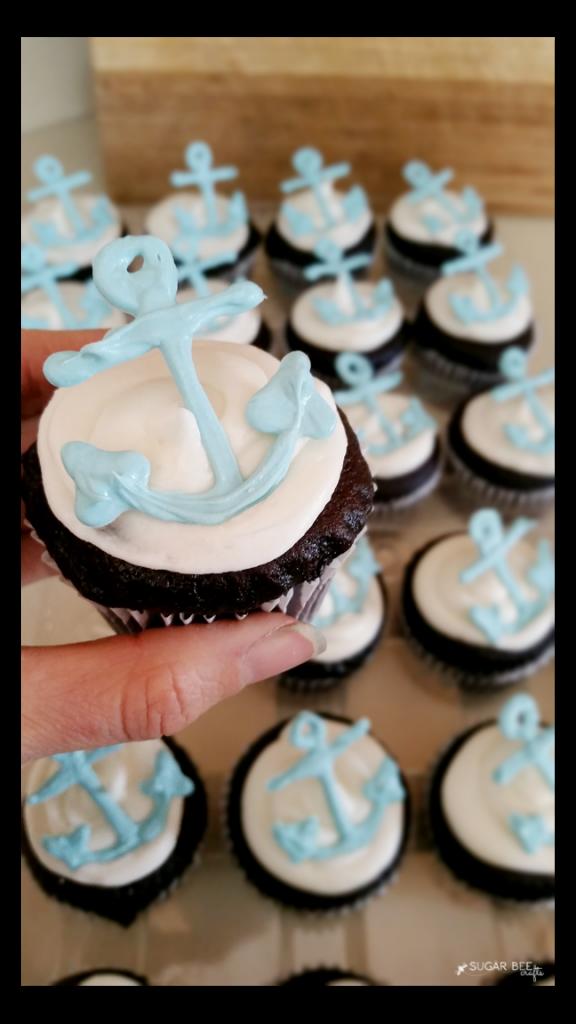 DIY Candy Melts Anchor Cupcakes