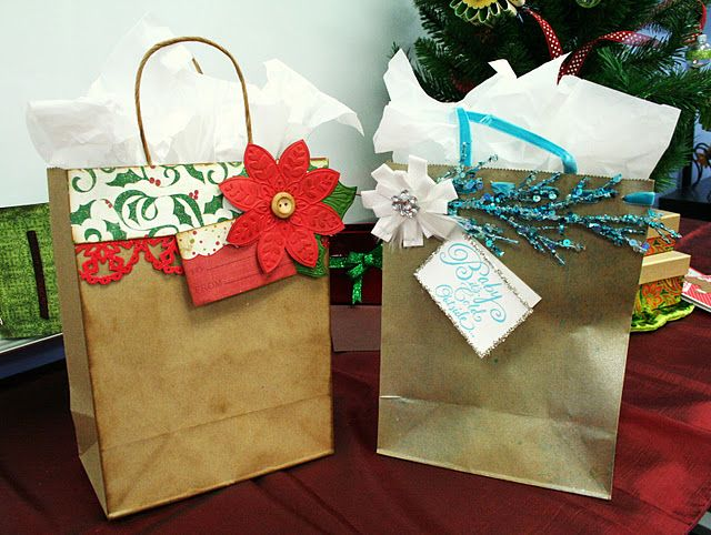 Oh My Crafts Blog Creative Christmas Gifts Decorated Gift Bags Gift Bags Diy