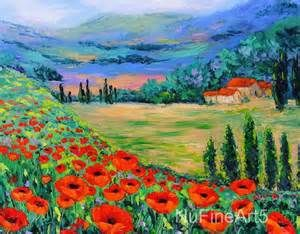 poppy landscape painting - Bing images