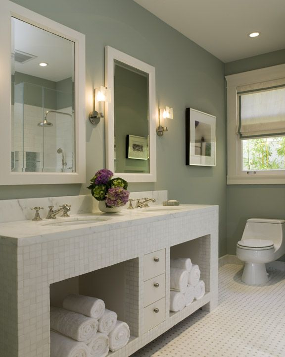 Sage Green Bathroom Contemporary Bathroom Coddington Design Green Bathroom Bathroom Wall Colors Contemporary Green Bathrooms