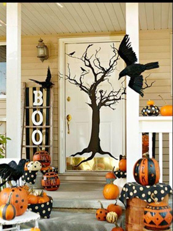 How To Make Halloween Door Decorations Halloween Porch Decorations Halloween Front Door Decorations Halloween Front Doors