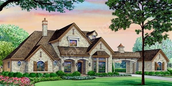 Westchester House Plan Country Style House Plans Courtyard House Plans English Country House Plans