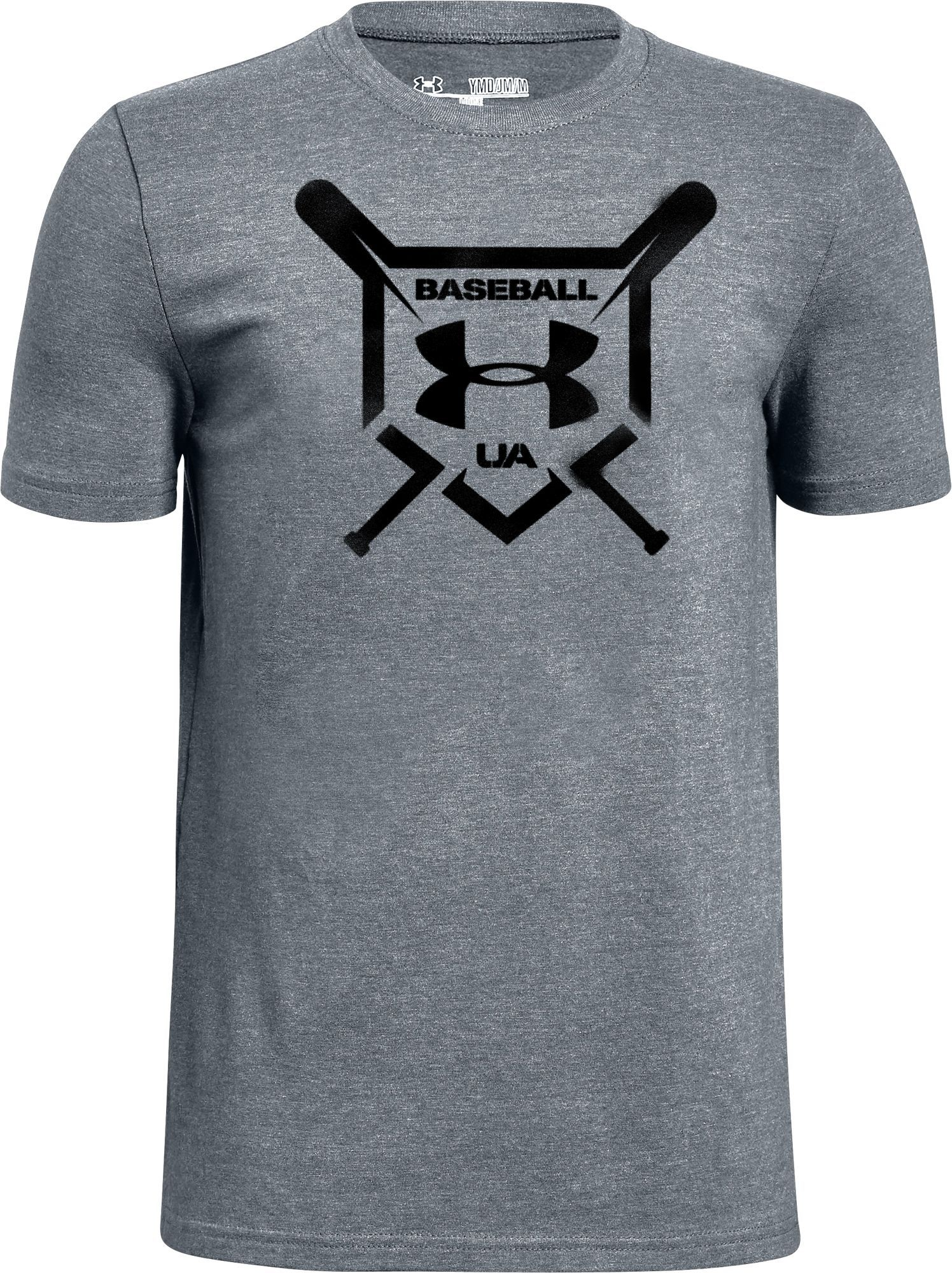 fa0ecad2 Under Armour Boys' Baseball Squad Graphic T-Shirt, Size: Medium, Gray