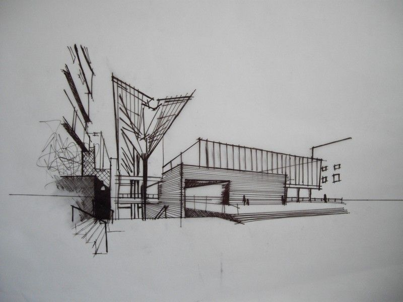 Pen Abstract Architecture Drawings
