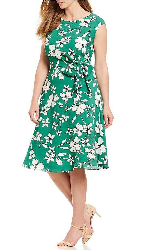 Plus Size Floral Dress - Plus Size Summer Wedding Guest Dress - Plus ...