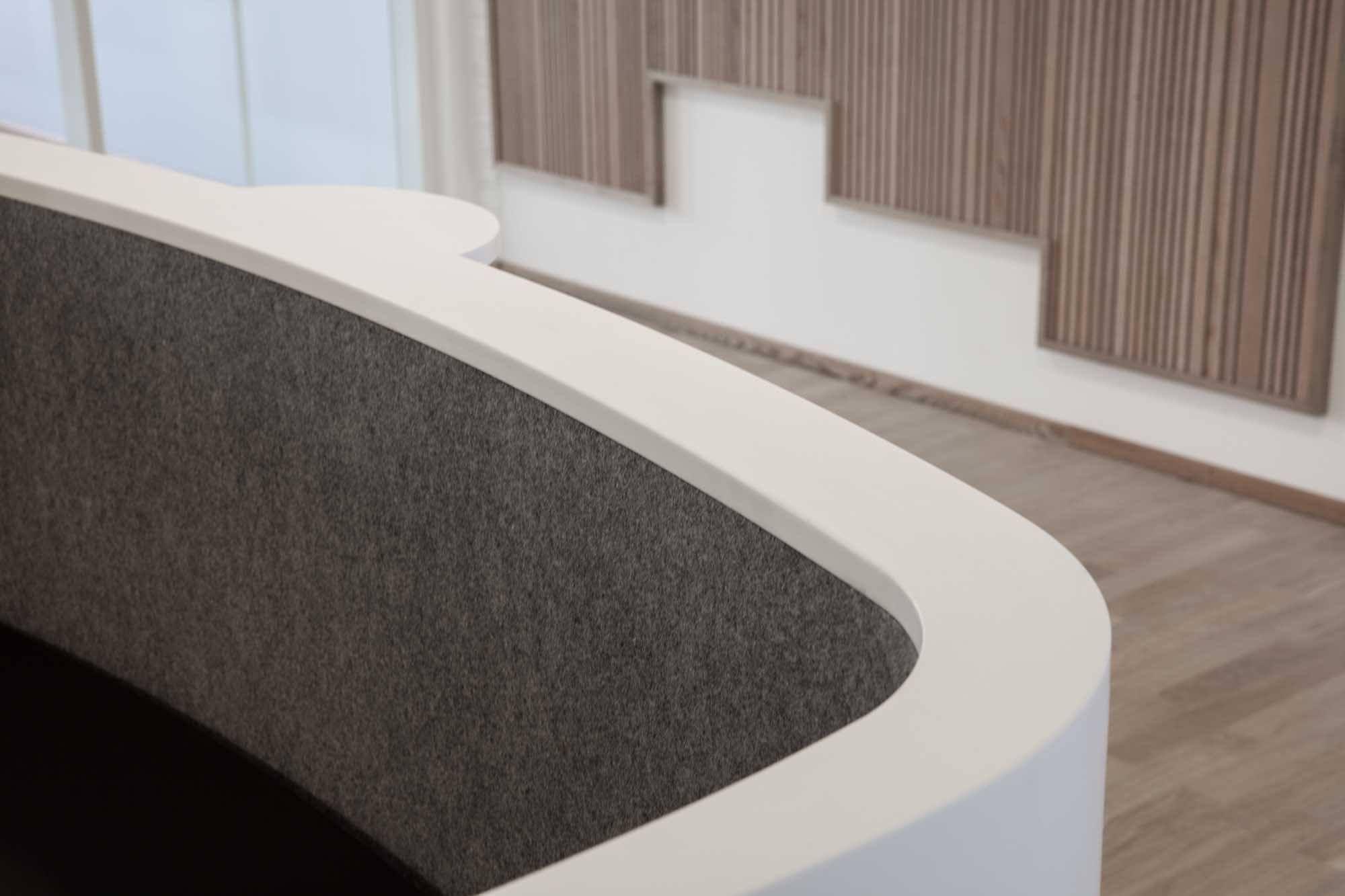 Home gt reception desks gt 8 curved maple glass top reception desk - Impact Reception Desk In Corian Receptionsdisk I Corian Curved Reception Desk Buet Receptionsdisk Curved Reception Deskreception Desksreceptions