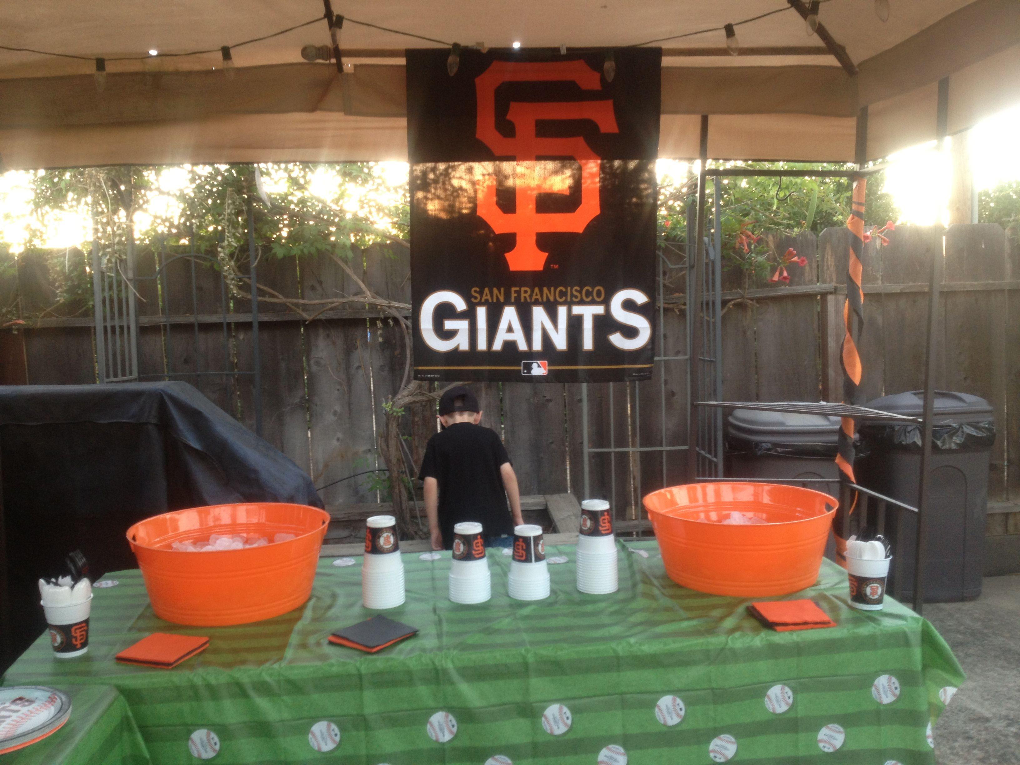 San Francisco Giants Baseball Party