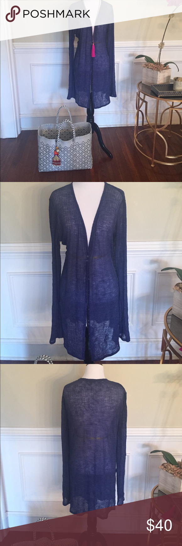 Eileen Fisher semi-sheer cardigan. Gorgeous Eileen Fisher sheer ...