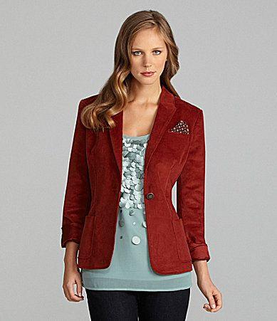 Cremieux Seema Corduroy Jacket #Dillards