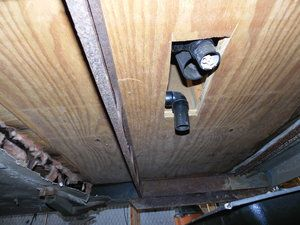 This is the under frame of the Airstream, it is getting some work done on the plumbing and holding tanks.