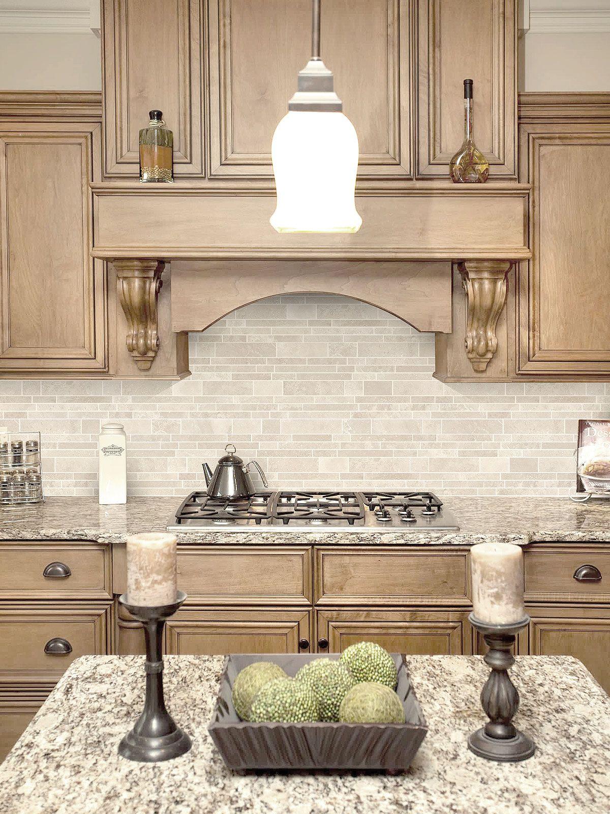 Light Ivory Travertine Kitchen Subway Backsplash Tile Backsplash Com Kitchen Layout Tuscan Kitchen Kitchen Design