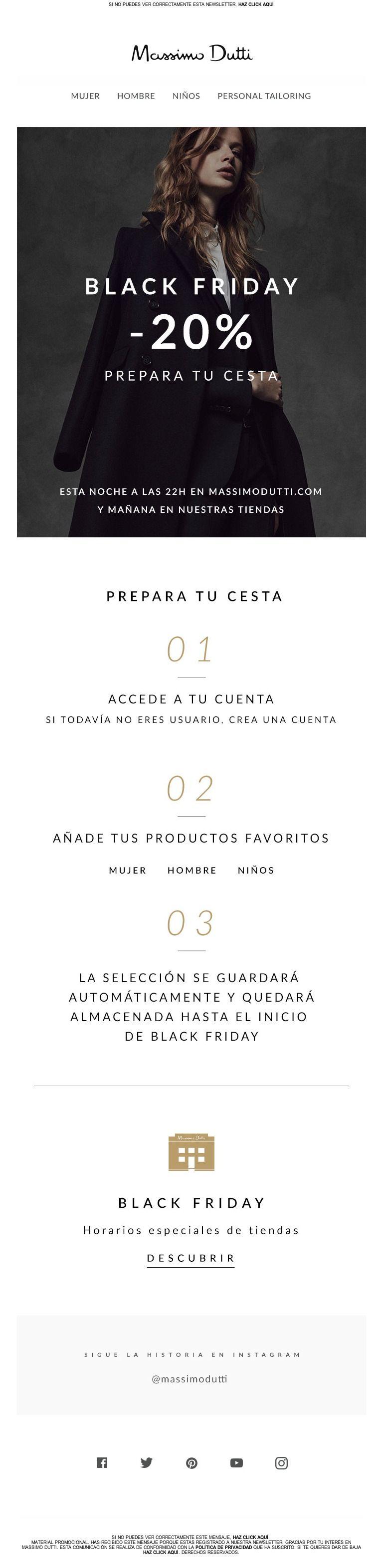 Massimo Dutti - ¡Prepara tu cesta para el Black Friday! Envío estándar sin coste.