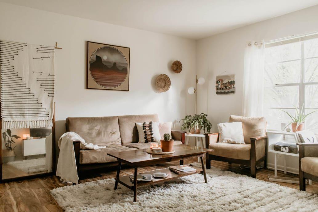 A Rental Apartment Is Earthy Minimal Handmade Earthy Home
