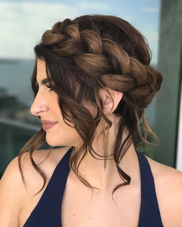 Crown Braid Updo Wedding Hairstyle Get Inspired By Fabulous