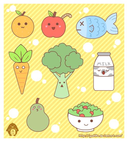 Healthy Foods By Yuuhiko Food Cartoon Healthy Recipes Fun Snacks For Kids