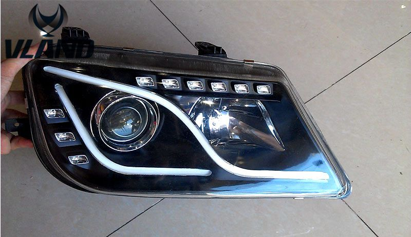 Free Shipping For Vland Car Head Lamp For Proton Waja Led Headlight With Projectors Xenon Lamp Car Head Car Hidden Projector