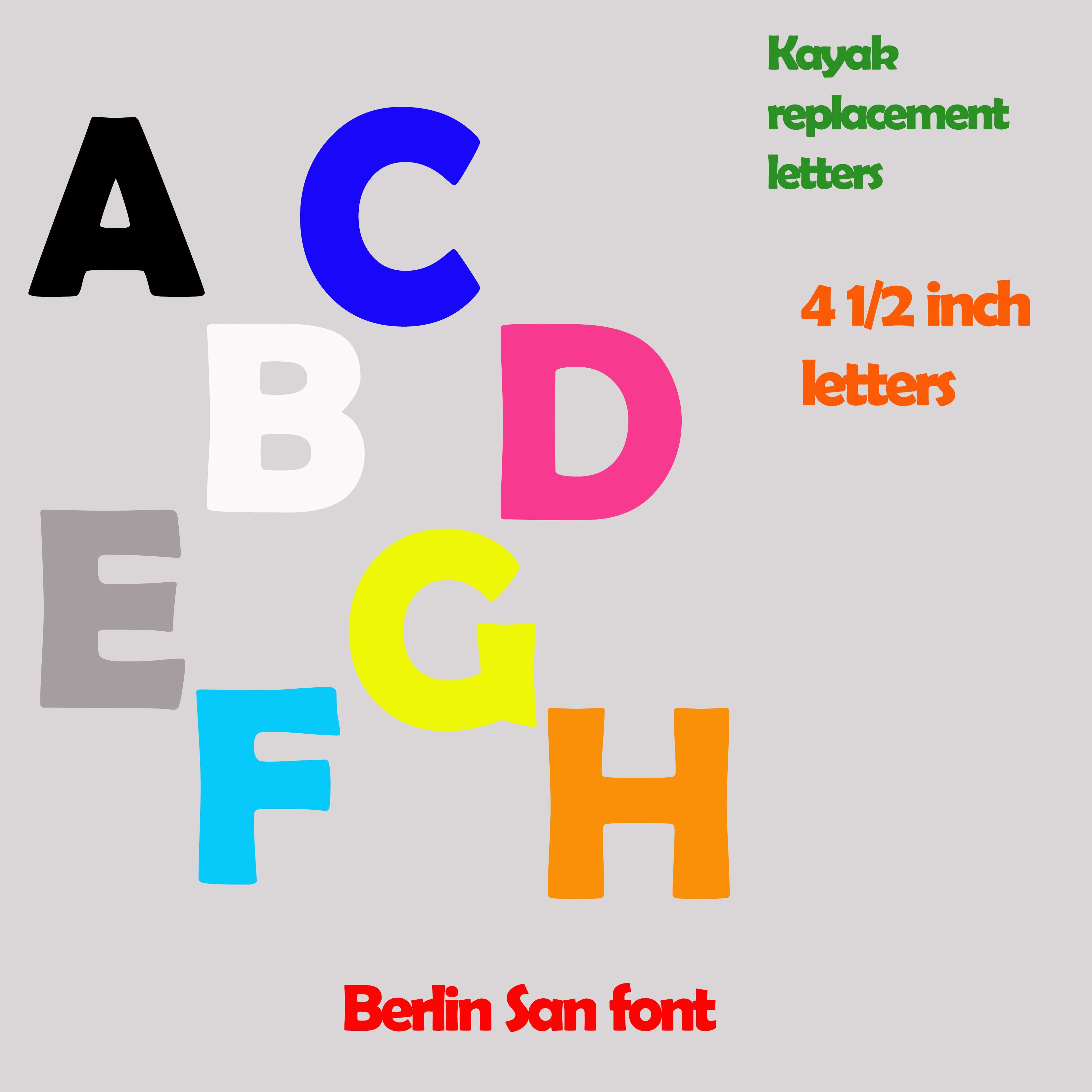 Berlin San Font 4 Half Inch Lettering Name Decal Price Per Letter From Big Tees Printing Lettering San Berlin