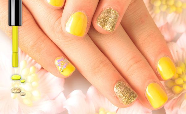 10 Awesome Neon Nail Art Ideas Gold And Yellow