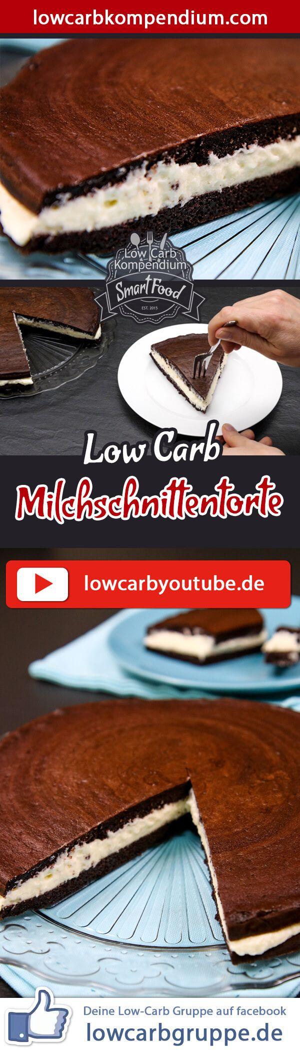 Milchschnittentorte – himmlisch cremig & Low-Carb #menus