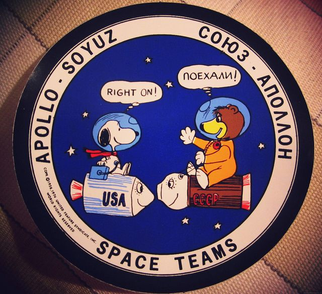 "Apollo-Soyuz test project : ""SPACE TEAMS"" patch with NASA ..."